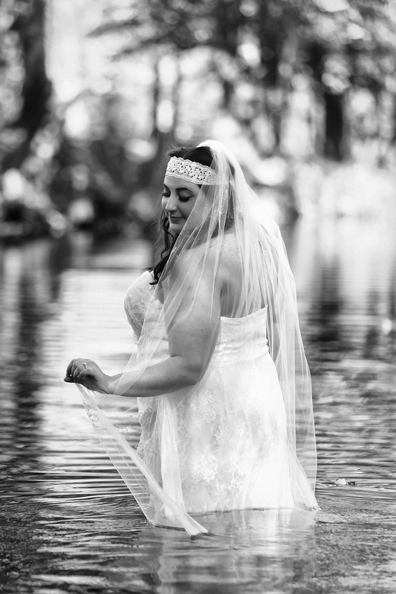Water theme trash the dress session