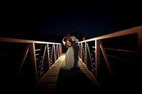 Night wedding photography at Buck's Run Golf Course